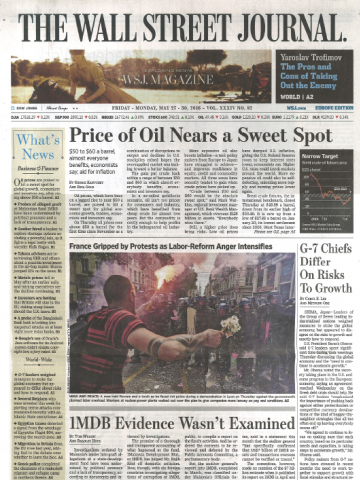 The Wall Street Journal Europe Edition